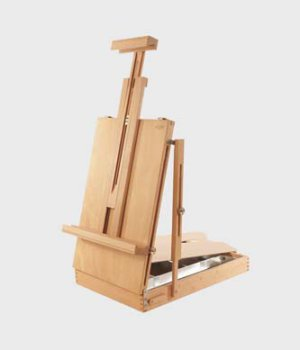 EASEL TABLE INCL WOODEN PALETTE