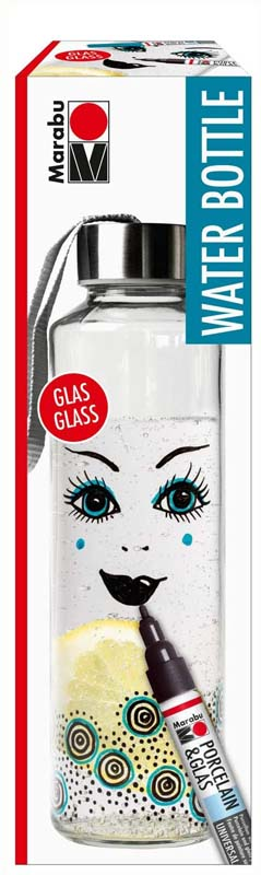 MARABU PORC & GLASS WATER BOTTLE SET
