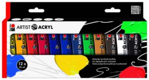 ACRYLIC ARTIST SET 12X22ML