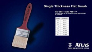 Soft White Bristle Brushes Single Thickness