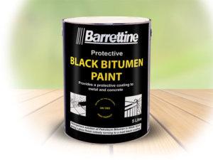 BARRETTINE BLACK BITUMEN PAINT 1LT